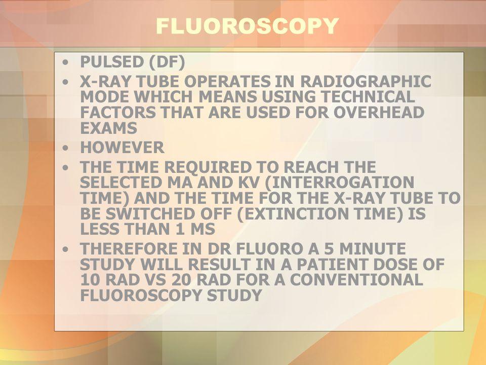 FLUOROSCOPY PULSED (DF)
