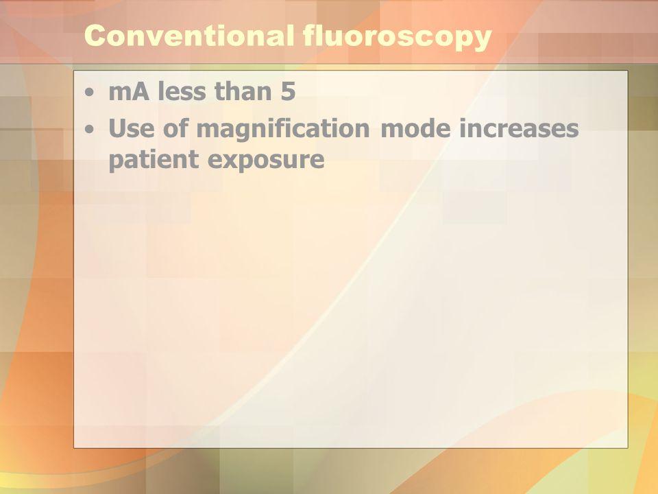 Conventional fluoroscopy
