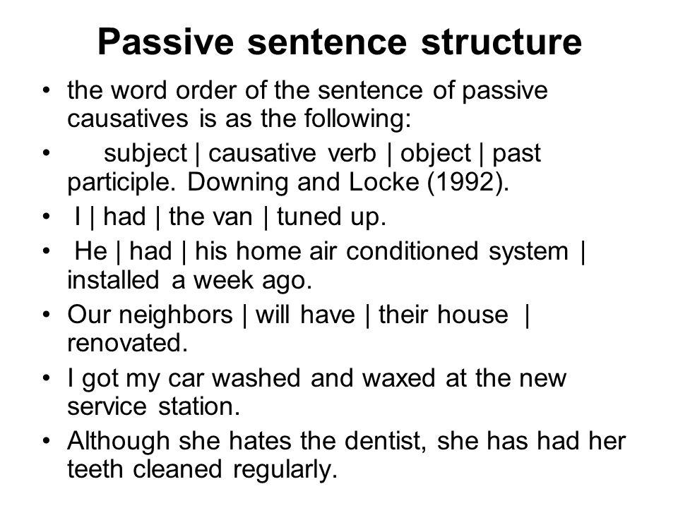Passive sentence structure