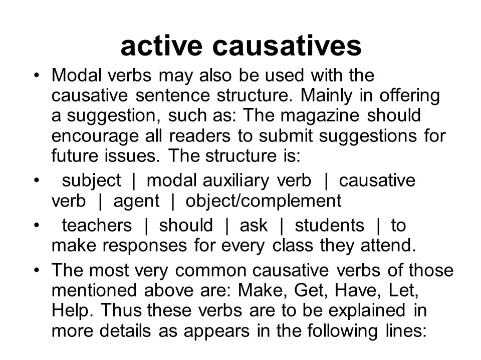 active causatives
