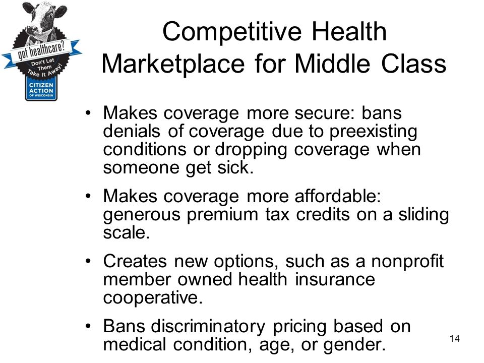 Competitive Health Marketplace for Middle Class