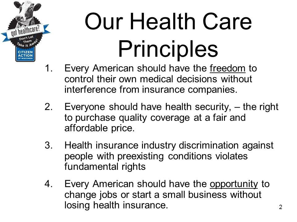 Our Health Care Principles