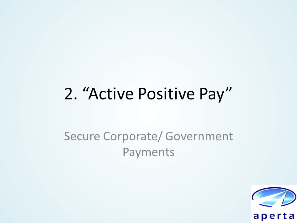Secure Corporate/ Government Payments