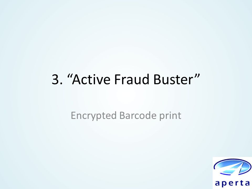 Encrypted Barcode print
