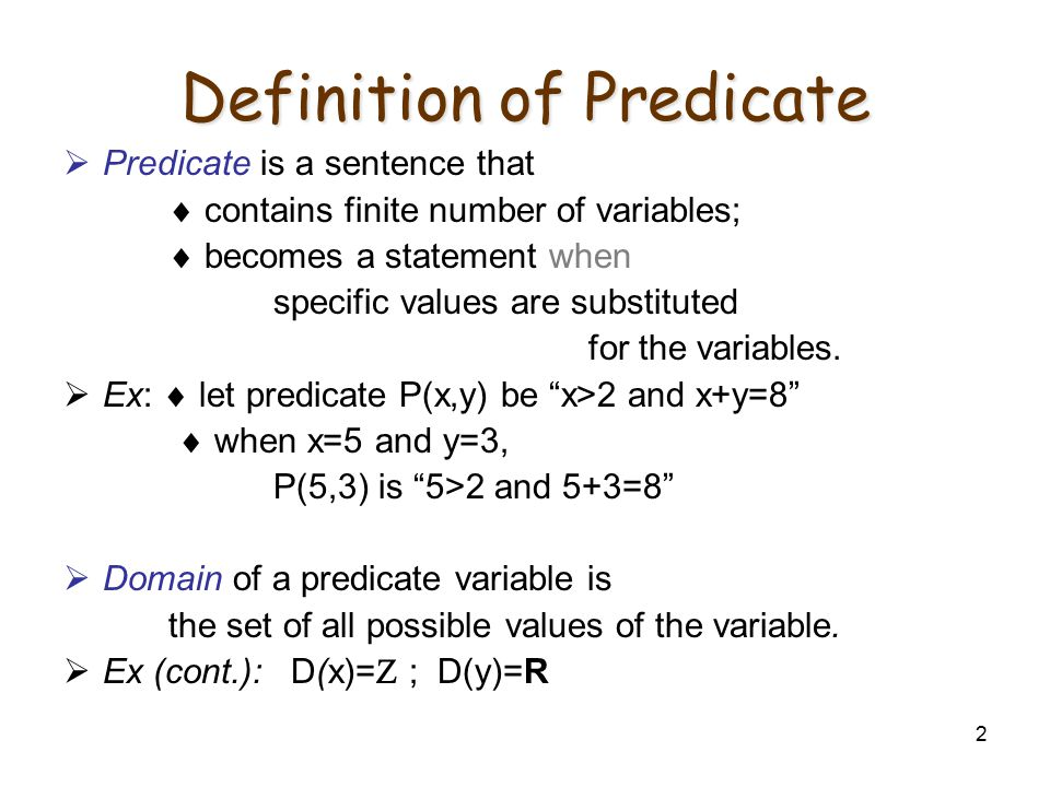 Definition of Predicate