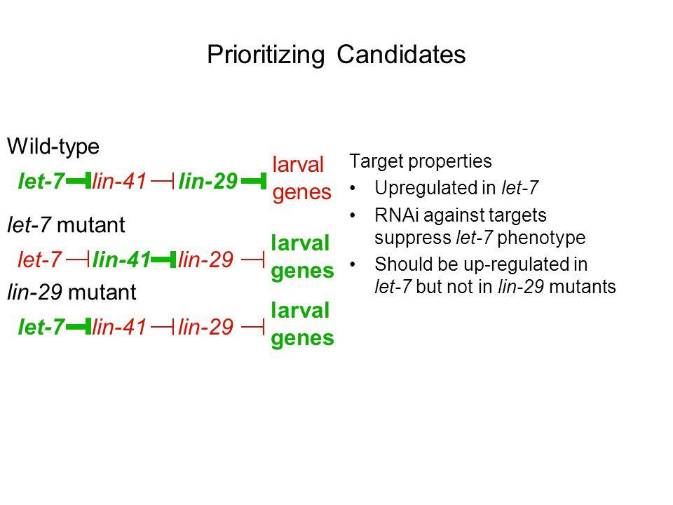 Prioritizing Candidates
