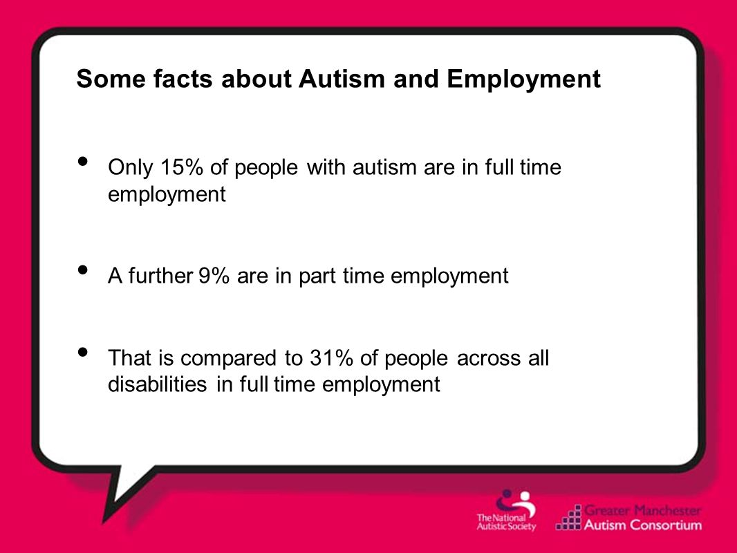 Some facts about Autism and Employment