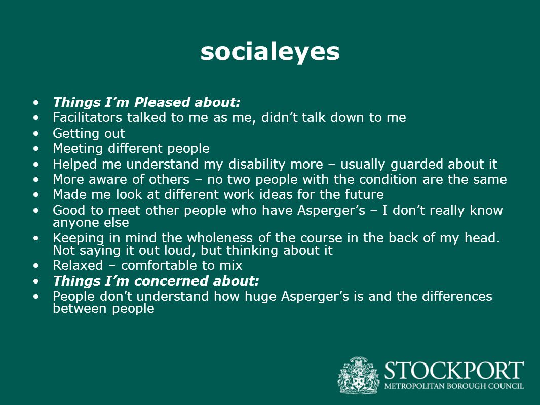 socialeyes Things I'm Pleased about: