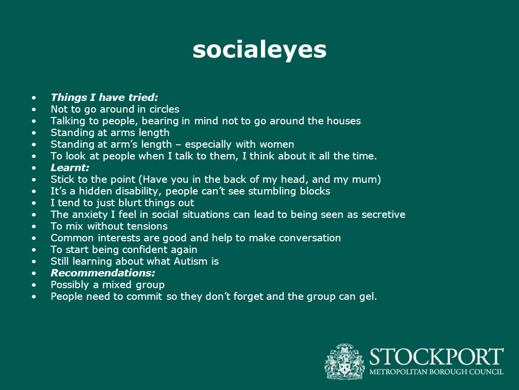 socialeyes Things I have tried: Not to go around in circles