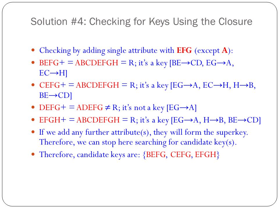 Solution #4: Checking for Keys Using the Closure