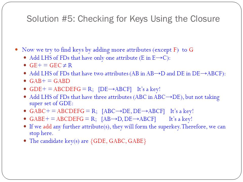 Solution #5: Checking for Keys Using the Closure