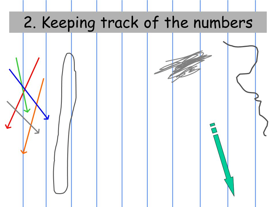 2. Keeping track of the numbers
