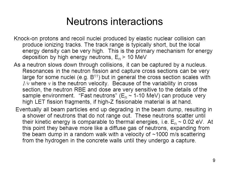Neutrons interactions