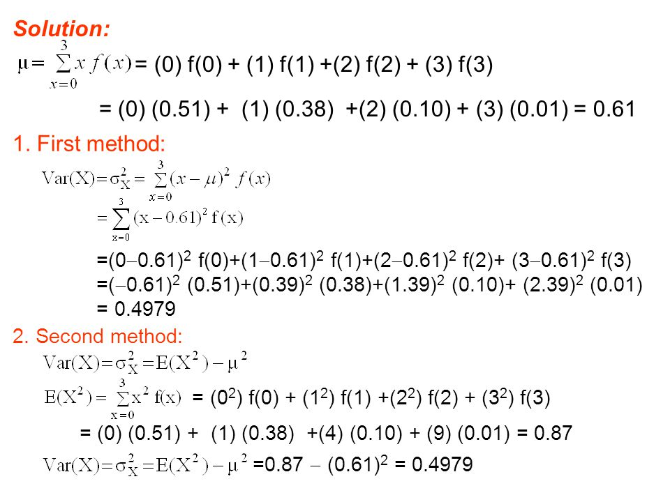 = (0) f(0) + (1) f(1) +(2) f(2) + (3) f(3)