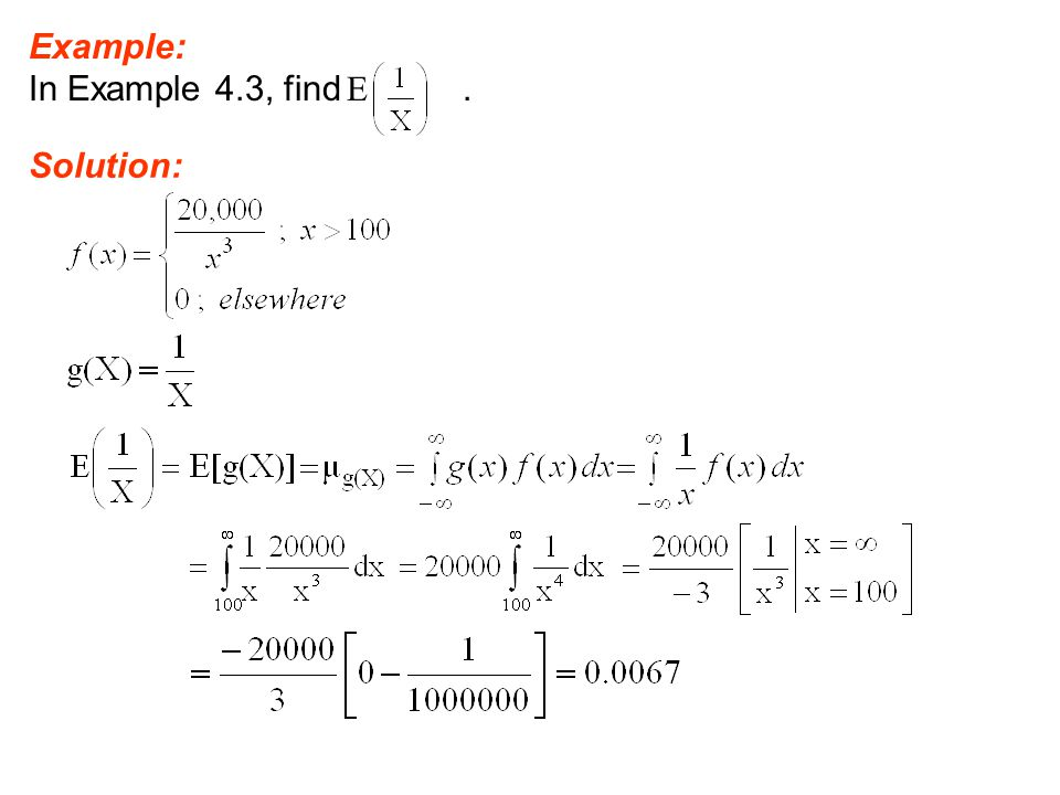 Example: In Example 4.3, find E . Solution: