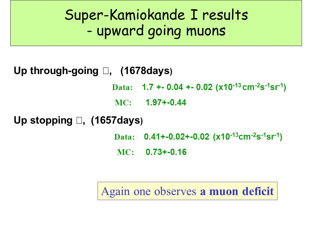 Super-Kamiokande I results - upward going muons