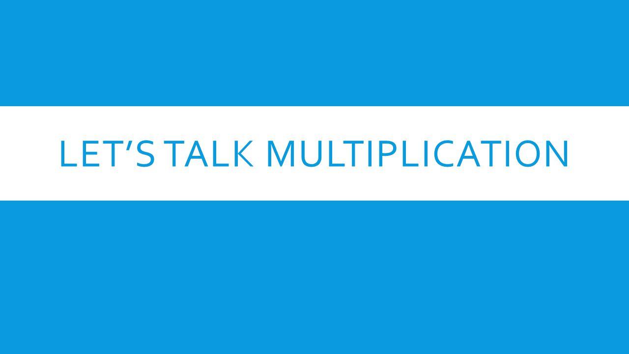 Let's Talk Multiplication