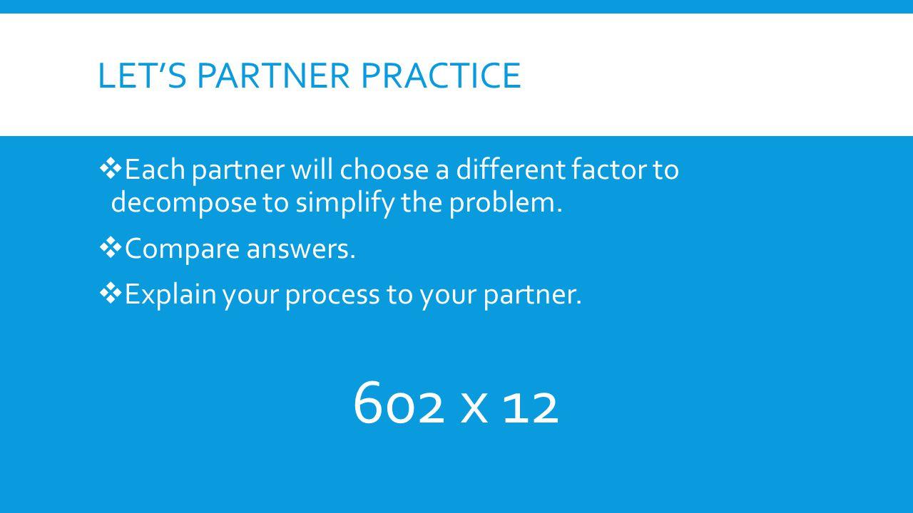 Let's Partner Practice