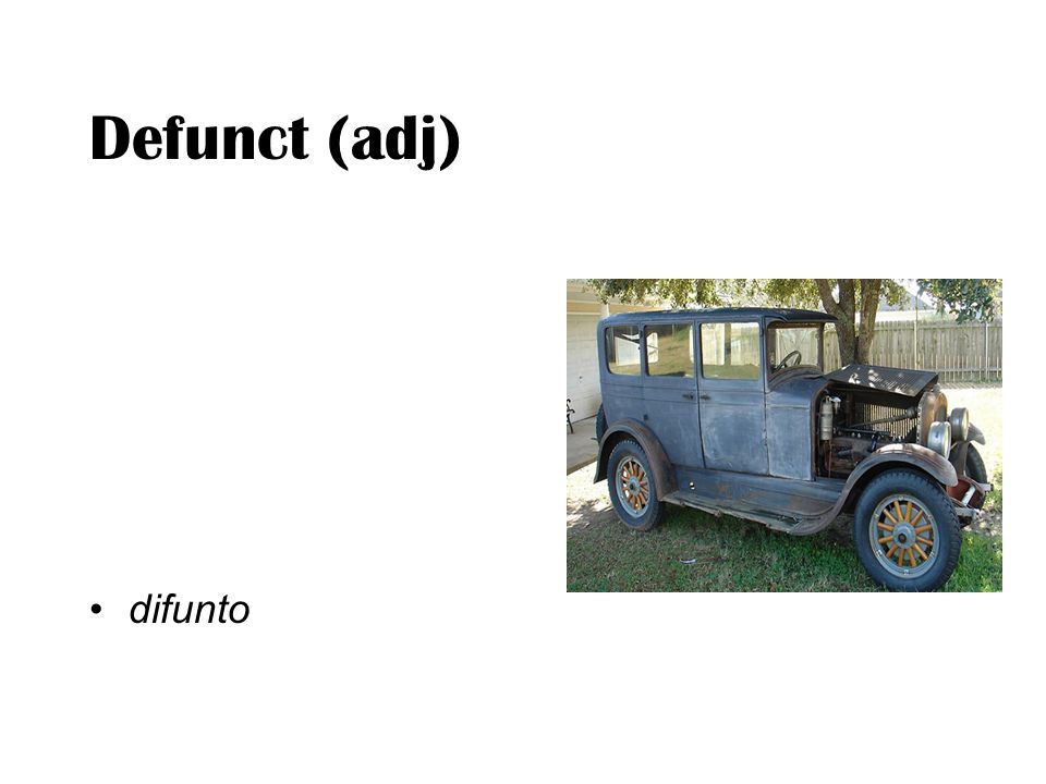Defunct (adj) difunto
