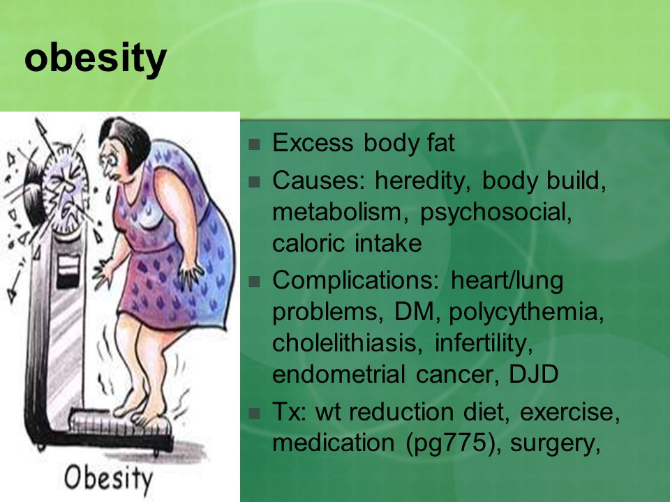 obesity Excess body fat