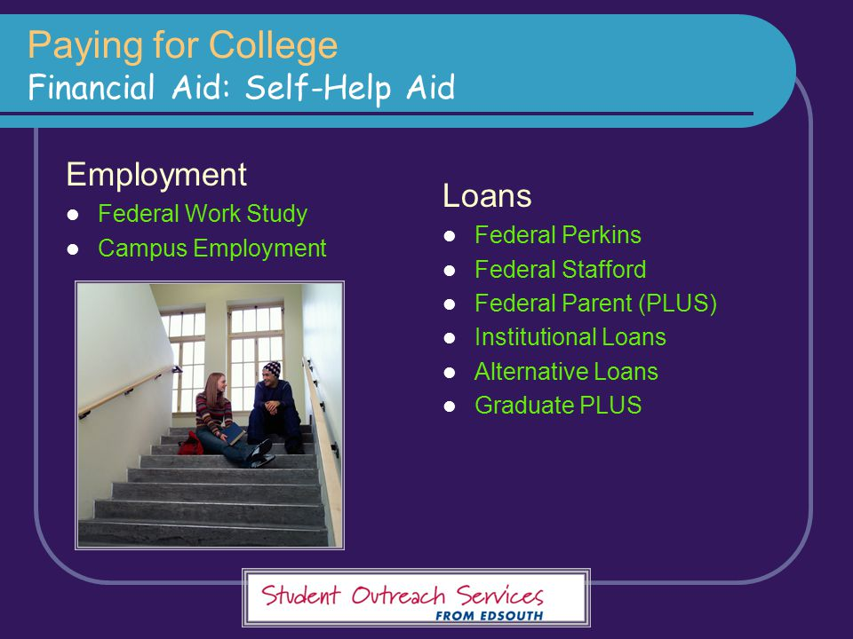 Paying for College Financial Aid: Self-Help Aid