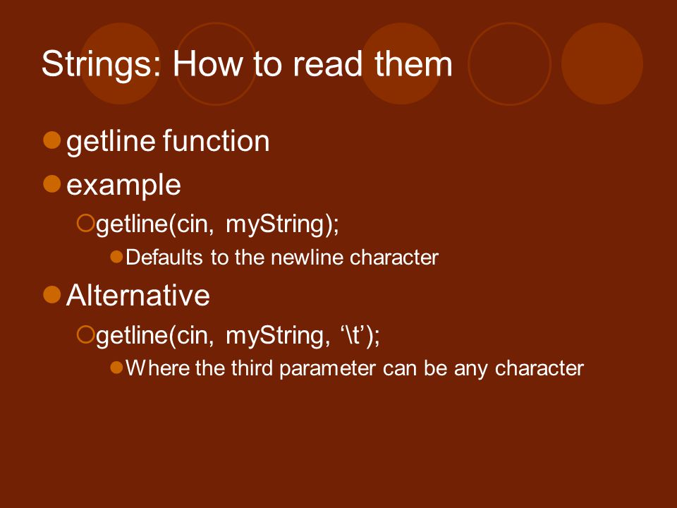 Strings: How to read them