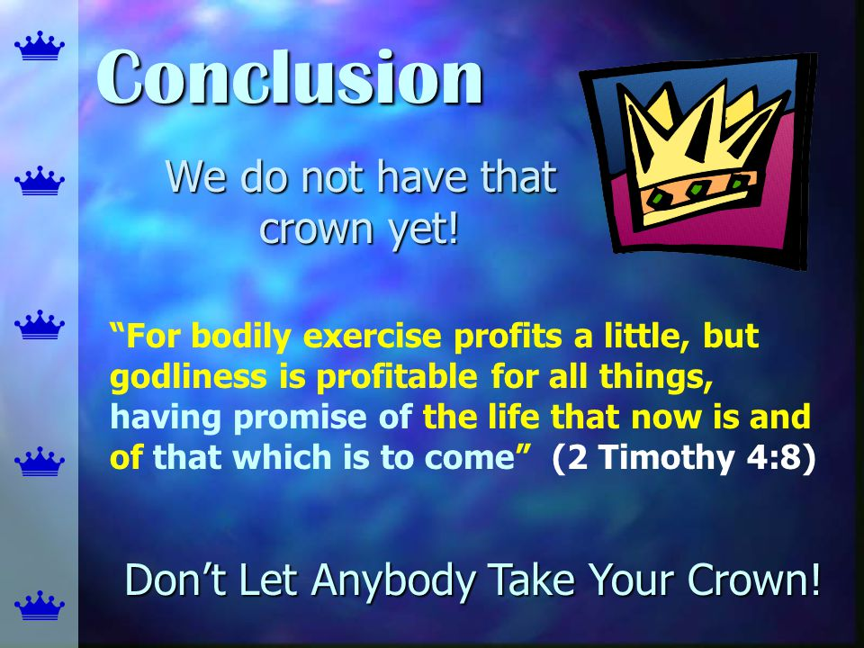 We do not have that crown yet!