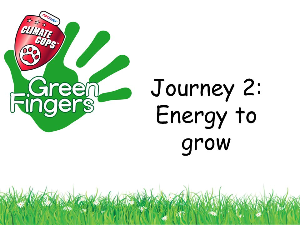 Journey 2: Energy to grow