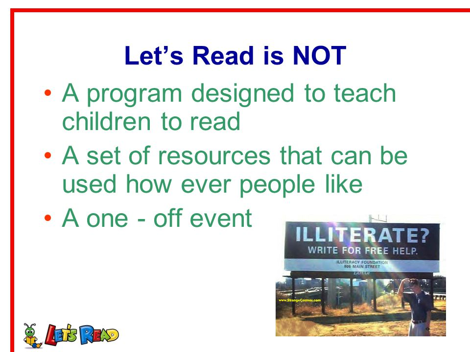 A program designed to teach children to read