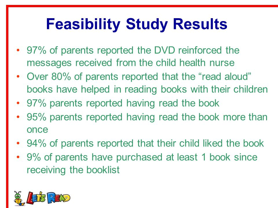 Feasibility Study Results