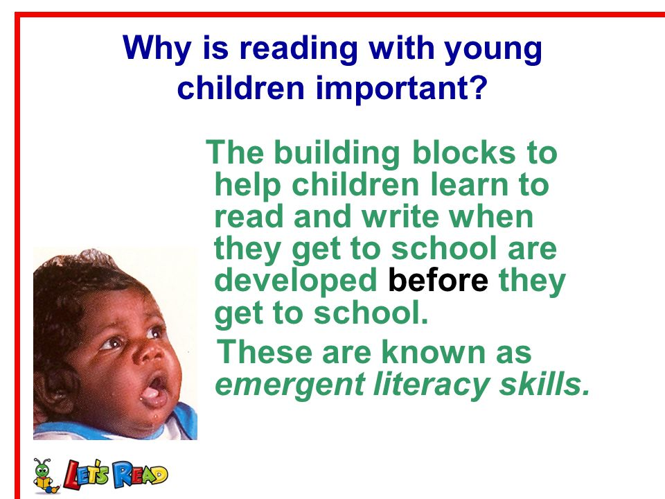Why is reading with young children important