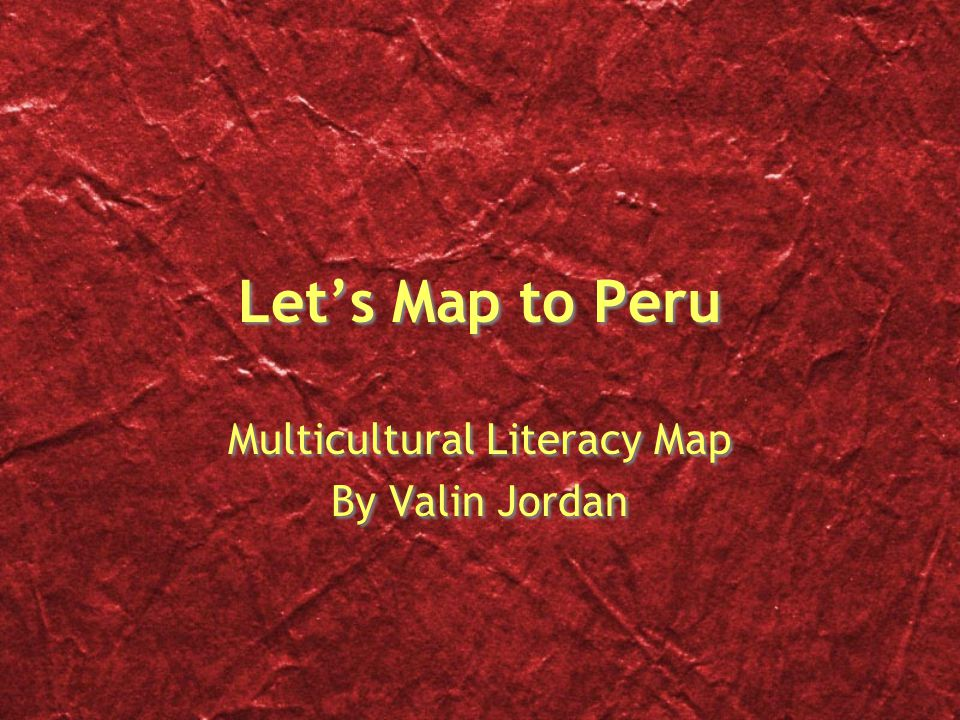 Multicultural Literacy Map By Valin Jordan