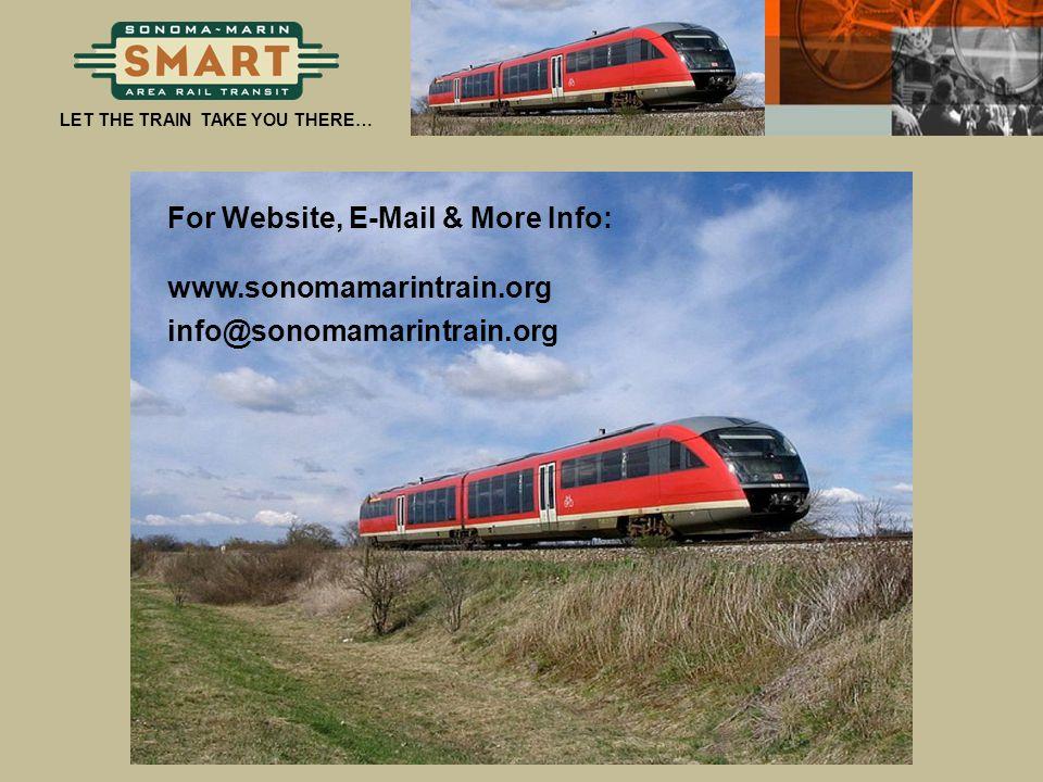 For Website, E-Mail & More Info: www.sonomamarintrain.org