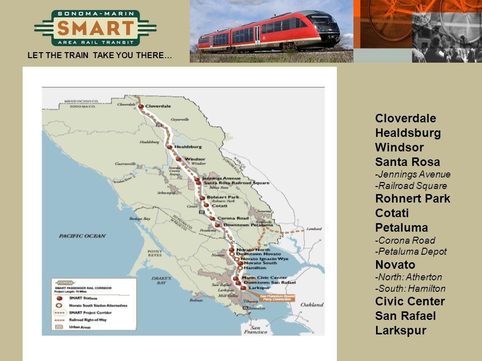 Station Locations Cloverdale Healdsburg Windsor Santa Rosa