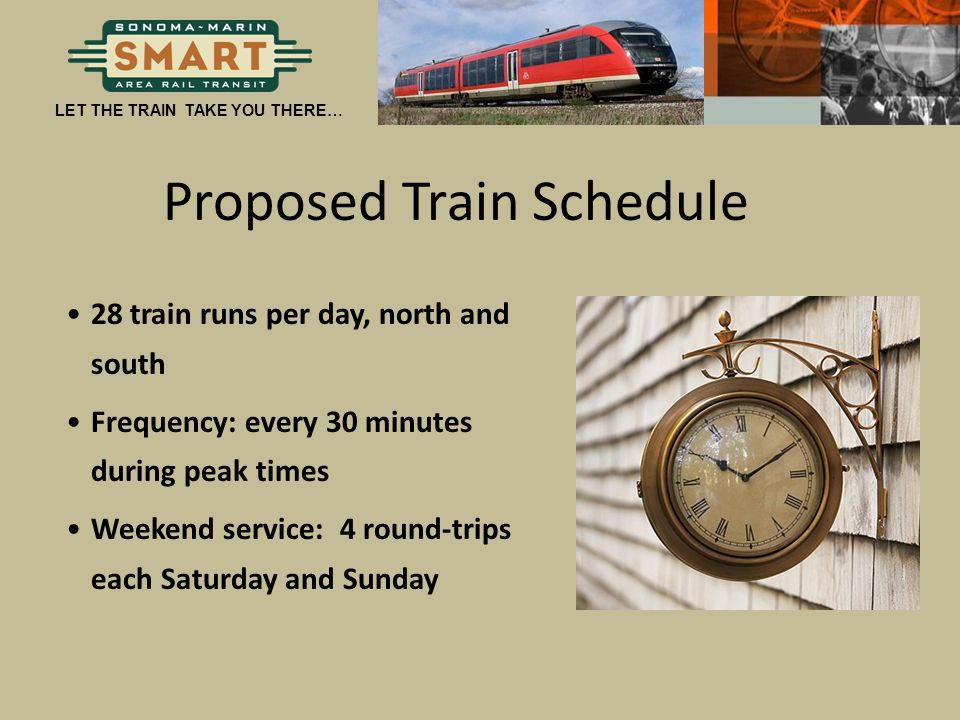 Proposed Train Schedule
