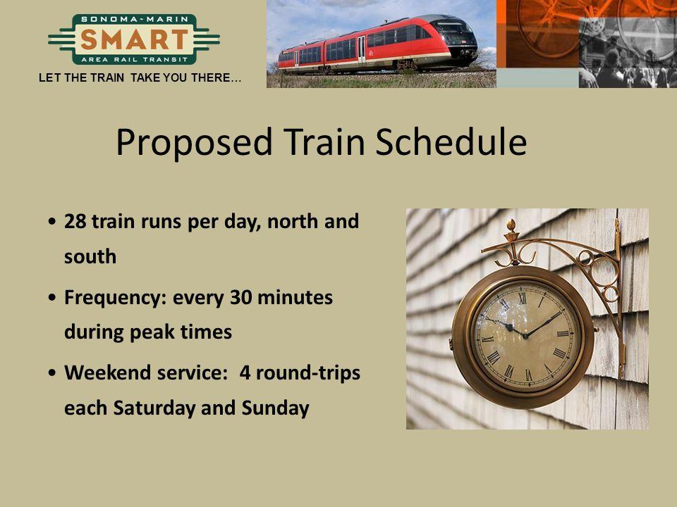 Proposed Train Schedule