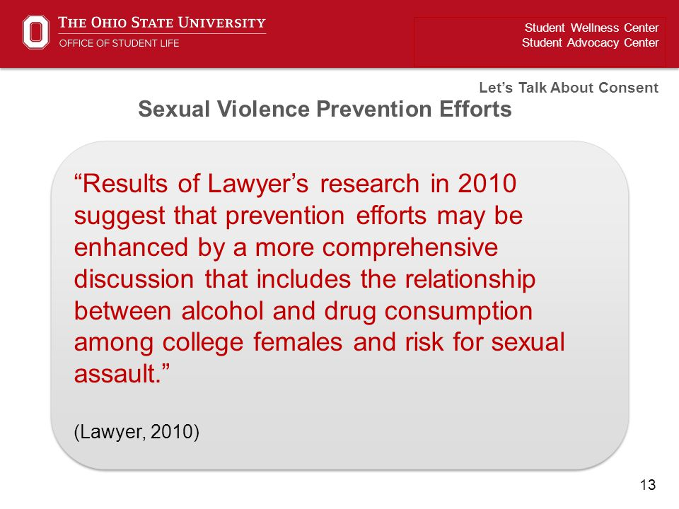 Sexual Violence Prevention Efforts