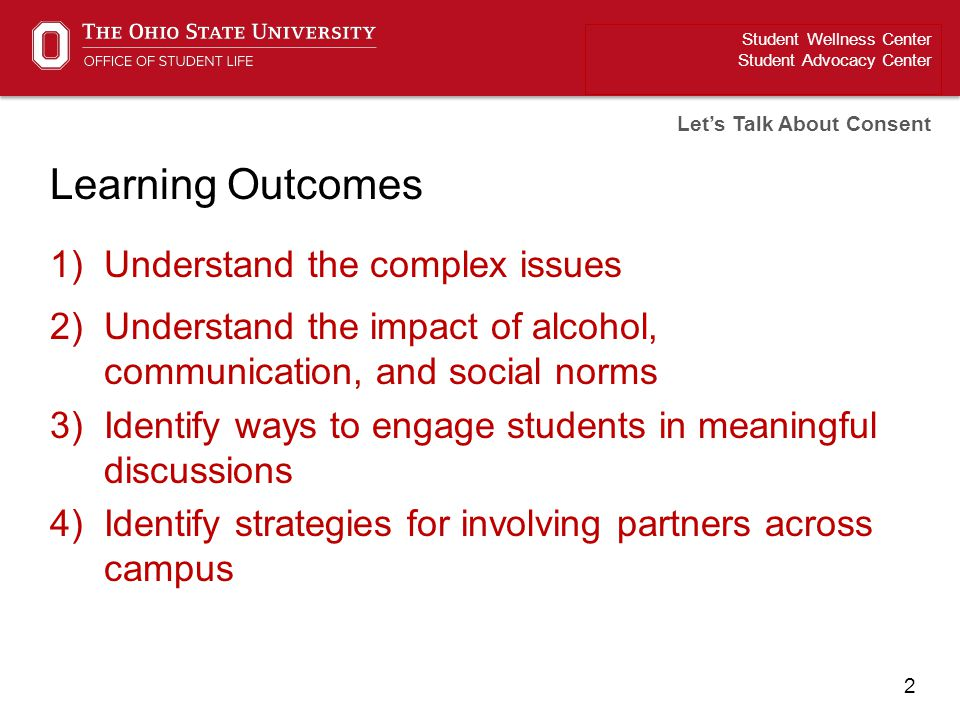 Learning Outcomes Understand the complex issues