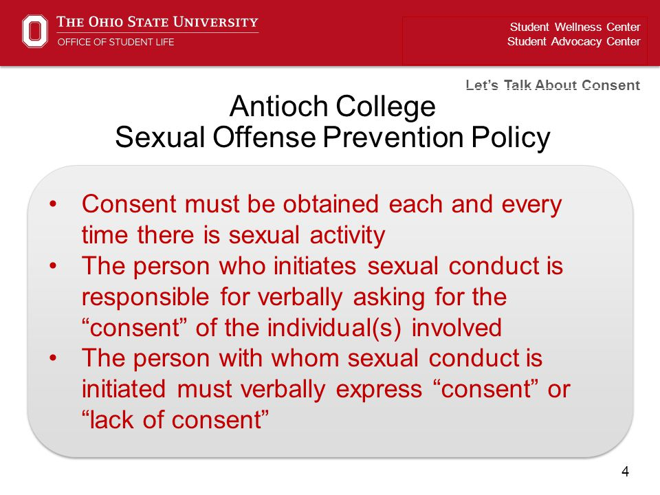 Antioch College Sexual Offense Prevention Policy