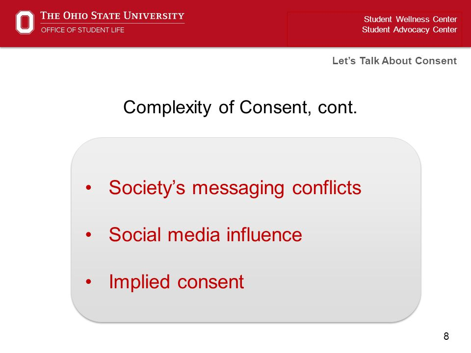 Complexity of Consent, cont.