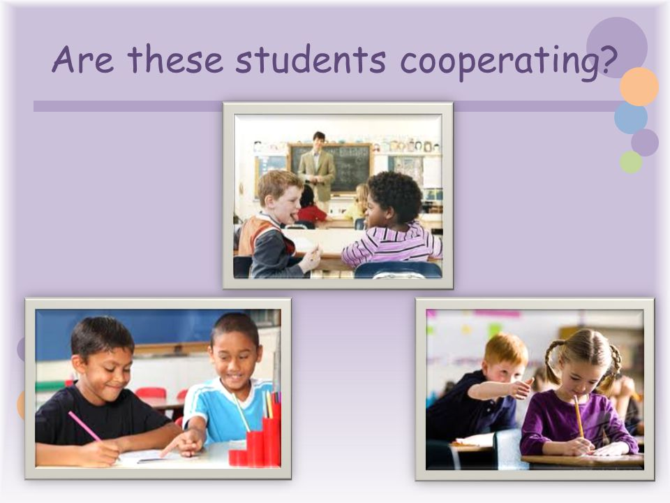 Are these students cooperating