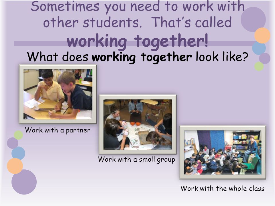 What does working together look like