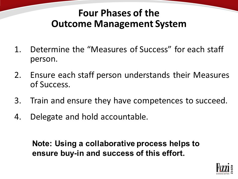 Four Phases of the Outcome Management System