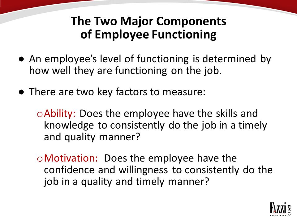 The Two Major Components of Employee Functioning