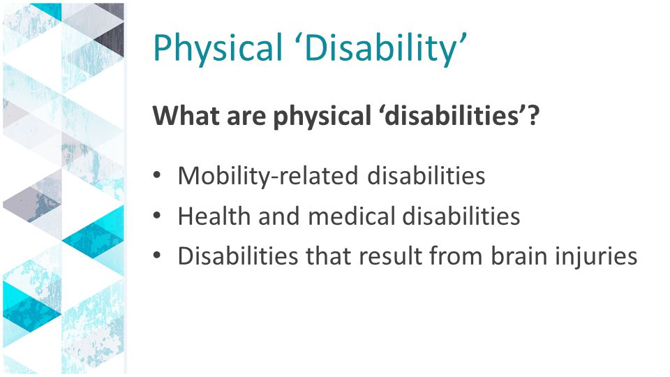 Physical 'Disability'