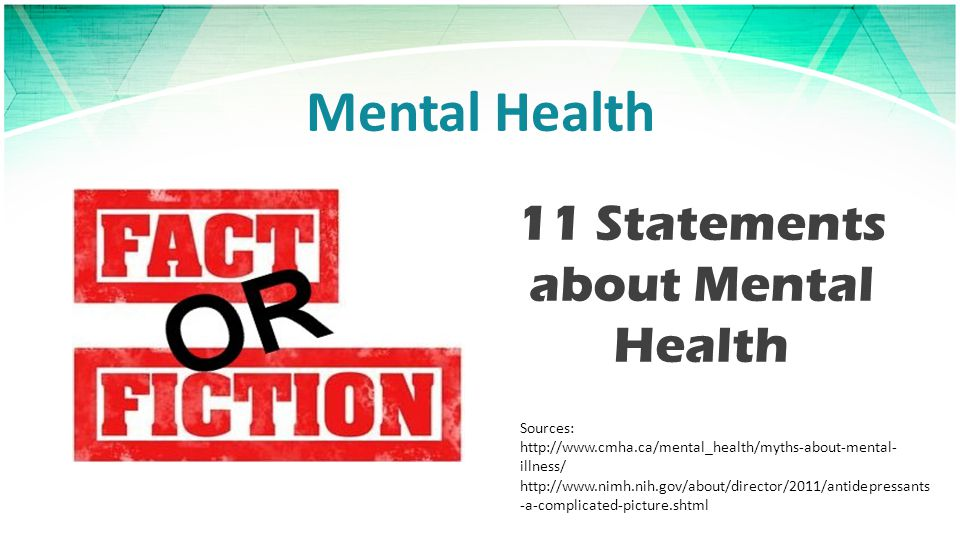 11 Statements about Mental Health
