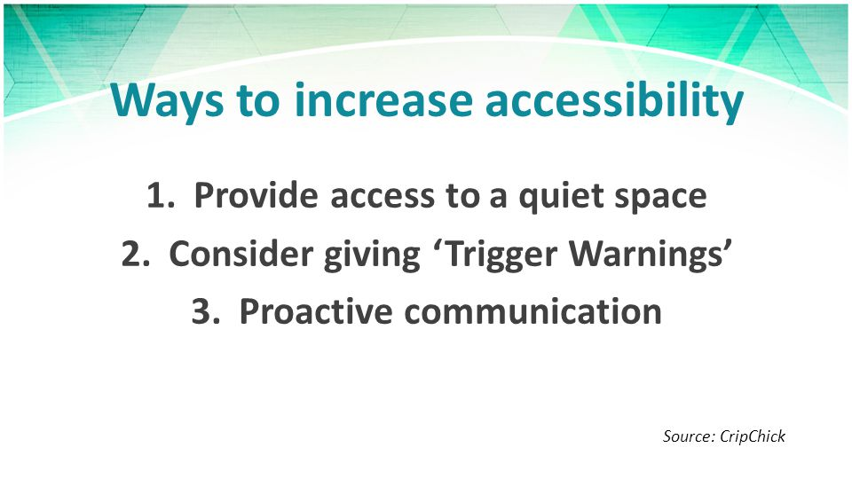 Ways to increase accessibility