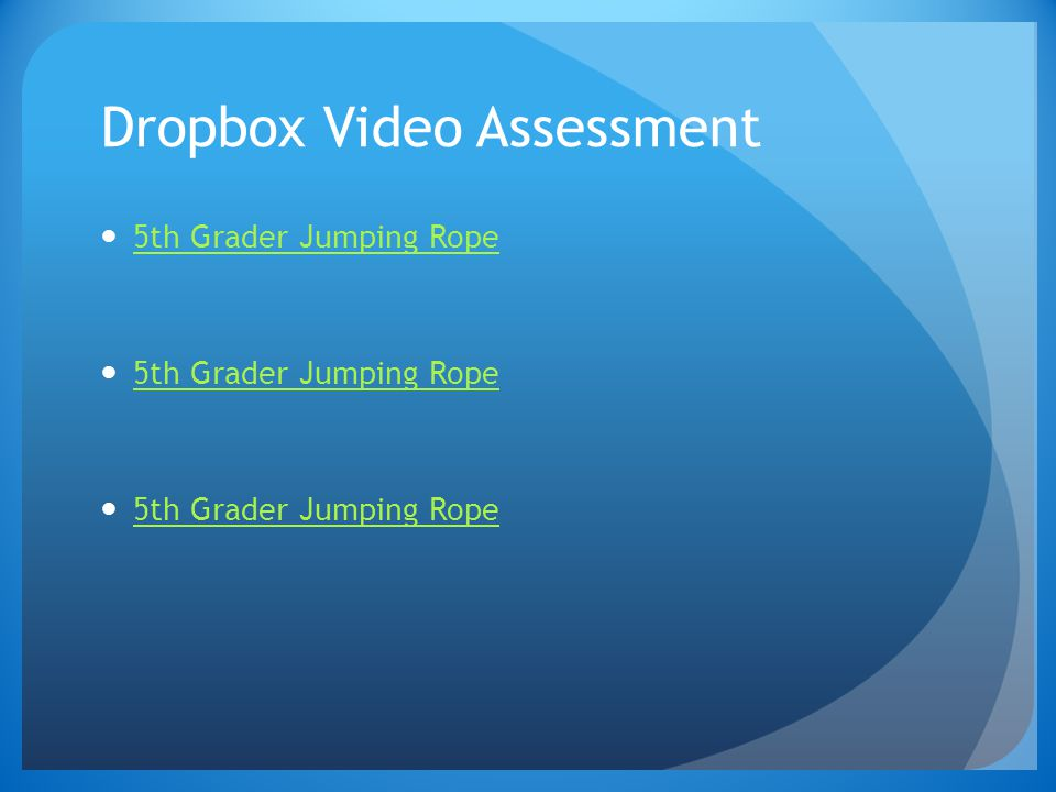 Dropbox Video Assessment