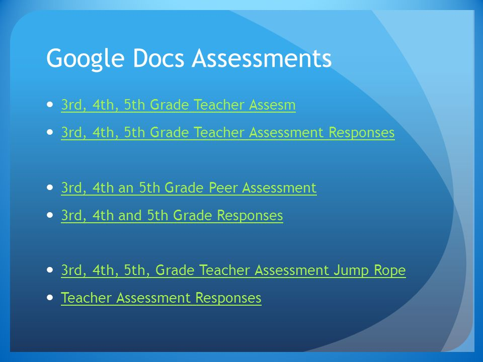 Google Docs Assessments