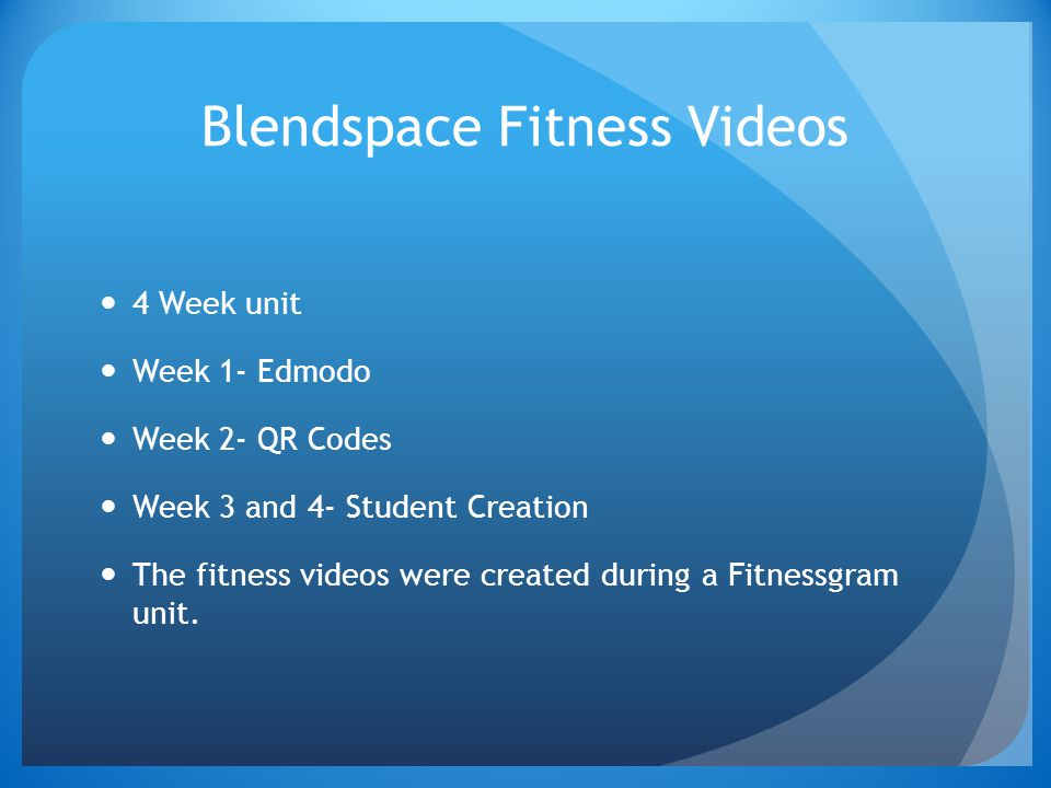 Blendspace Fitness Videos